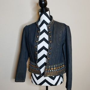 Embroidered Sequined Jean Jacket